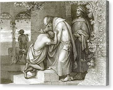 The Prodigal's Return Canvas Print by English School