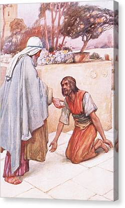 The Return Of The Prodigal Son Canvas Print by Arthur A Dixon