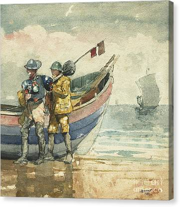 The Return, Tynemouth Canvas Print by Winslow Homer