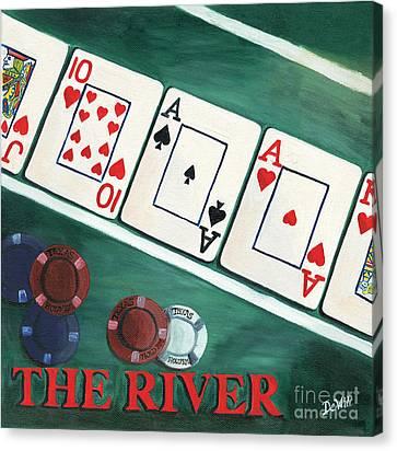 The River Canvas Print by Debbie DeWitt