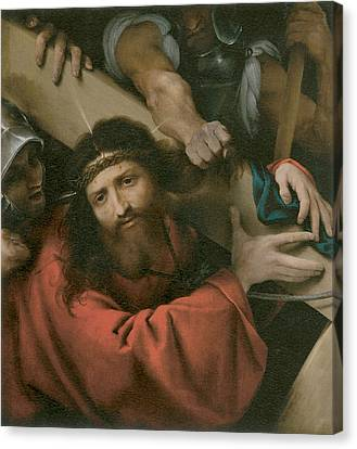 The Road To Calvary Canvas Print by Lorenzo Lotto