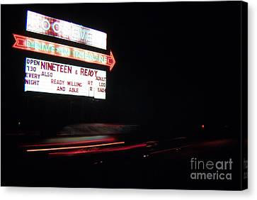 The Roosevelt Drive Inn Canvas Print by Corky Willis Atlanta Photography