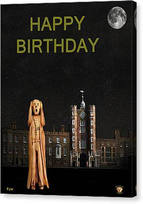 The Scream World Tour St James's Palace Happy Birthday Canvas Print by Eric Kempson
