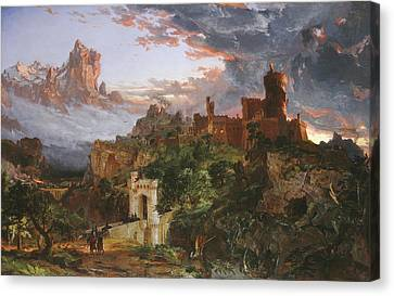 The Spirit Of War Canvas Print by Jasper Francis Cropsey