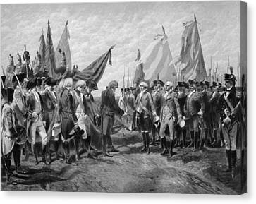 The Surrender Of Cornwallis At Yorktown Canvas Print by War Is Hell Store