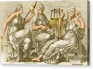 The Three Fates Canvas Print by Photo Researchers