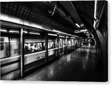 The Underground System Canvas Print by David Pyatt