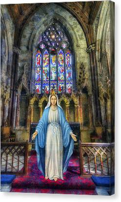 The Virgin Mary Canvas Print by Ian Mitchell