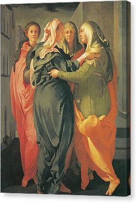 The Visitation Canvas Print by Jacopo Da Pontormo
