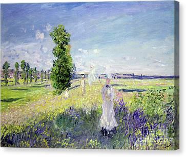 The Walk Canvas Print by Claude Monet