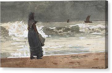 The Watcher, Tynemouth Canvas Print by Winslow Homer