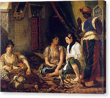 The Women Of Algiers In Their Apartment Canvas Print by Eugene Delacroix