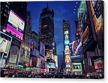Times Square Canvas Print by Benjamin Matthijs