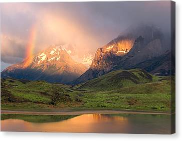 Torres Del Paine - Patagonia Canvas Print by Carl Amoth