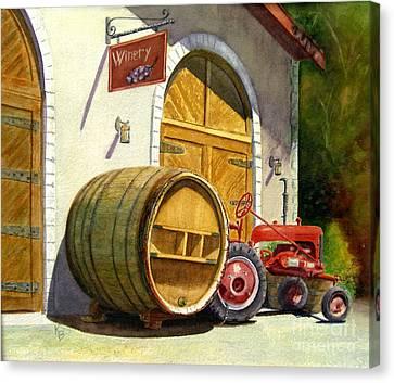 Tractor Pull Canvas Print by Karen Fleschler