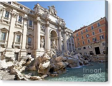 Trevi Fountain. Rome Canvas Print by Bernard Jaubert
