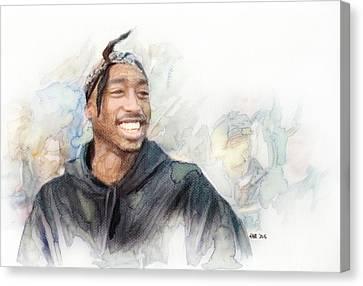 Tupac 21 Canvas Print by Jani Heinonen