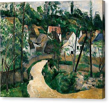 Turn In The Road Canvas Print by Paul Cezanne