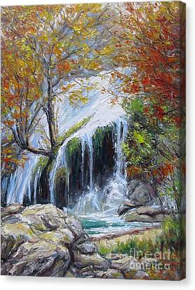 Turner Falls Oklahoma Canvas Print by Vickie Fears