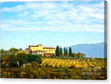 Typical Tuscan Hill Canvas Print by Antonio Gravante