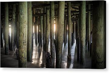 Under The Boardwalk Canvas Print by Kristopher Schoenleber