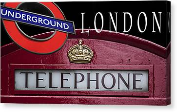 Underground London Canvas Print by Daniel Hagerman