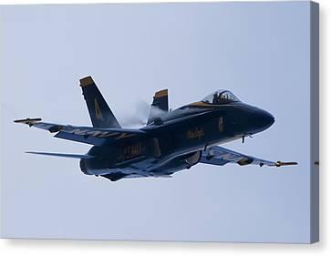 Us Navy Blue Angels High Speed Turn Canvas Print by Dustin K Ryan