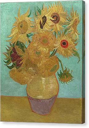 Van Gogh Vase With Twelve Sunflowers Canvas Print by Vincent Van Gogh