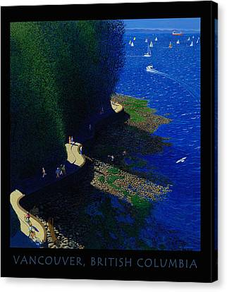 Vancouver North Seawall Poster  Canvas Print by Neil Woodward