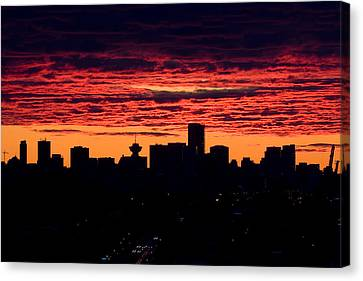 Vancouver Sunset  Canvas Print by Naman Imagery