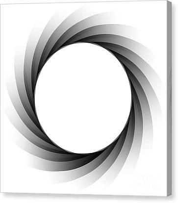 Vector Aperture - Focus Canvas Print by Michal Boubin