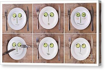 Vegetable Faces Canvas Print by Nailia Schwarz