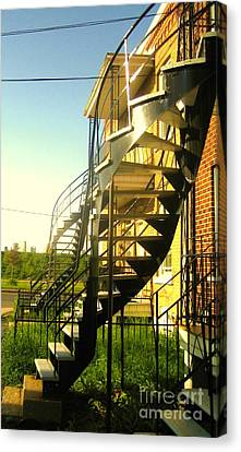 Verdun Stairs Canvas Print by Reb Frost