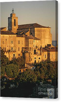 Village De Gordes. Vaucluse. France. Europe Canvas Print by Bernard Jaubert
