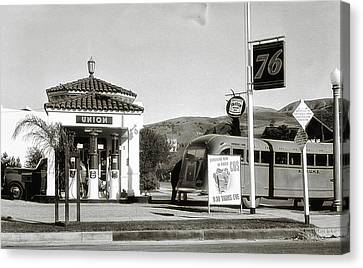 Vintage Gas Station Canvas Print by Dennis Adams