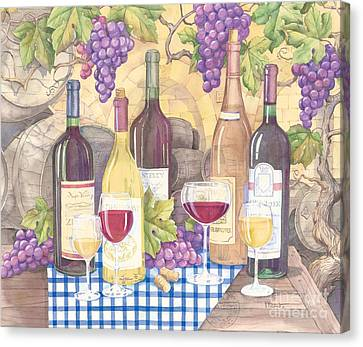 Vintage Wine I Canvas Print by Paul Brent
