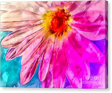 Vivid Joy Canvas Print by Krissy Katsimbras