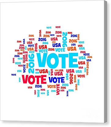 Vote Usa 2016 Canvas Print by Henrik Lehnerer