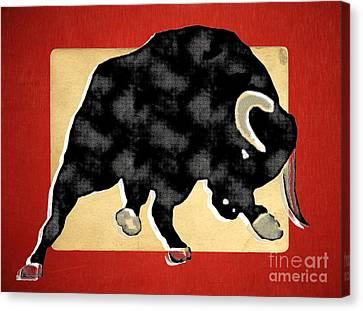 Wall Street Bull Market Series 2 Canvas Print by Edward Fielding