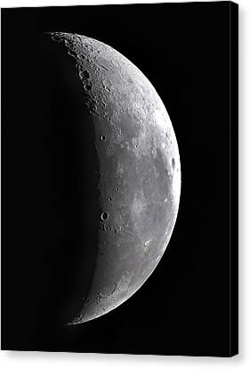Waning Crescent Moon Canvas Print by John Sanford