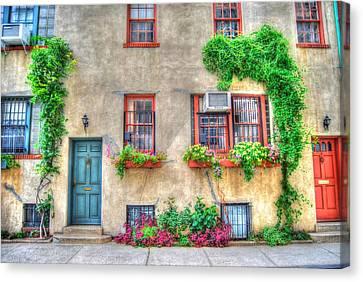 Washington Mews Cozy Cottage Canvas Print by Randy Aveille