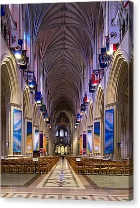 Washington National Cathedral - Washington Dc Canvas Print by Brendan Reals