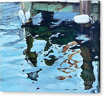 Water Reflections 1 Canvas Print by Sandra Bellestri