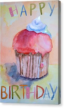 Watercolor Illustration Of Cake  Canvas Print by Regina Jershova