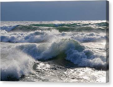Waves Of Superior Canvas Print by Sandra Updyke
