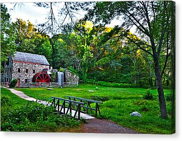 Wayside Inn Grist Mill Canvas Print by Toby McGuire