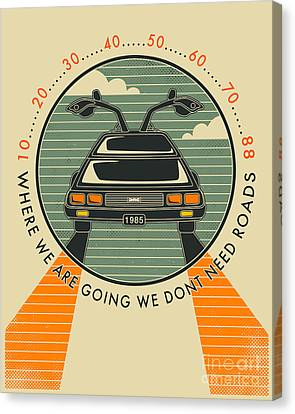 We Dont Need Roads Canvas Print by Jazzberry Blue