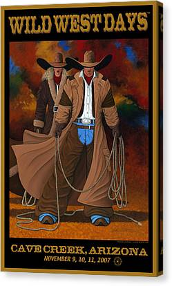 Wild West Days Poster/print  Canvas Print by Lance Headlee