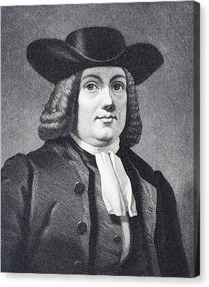 William Penn 1644 To 1718 English Canvas Print by Vintage Design Pics