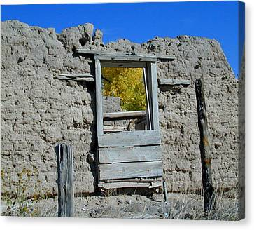 Window In Autumn Canvas Print by Joseph R Luciano